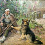 Комаров А. Раненный боец с собакой, 1947_result_03