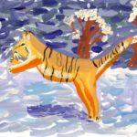 Андреева Ярослава, 7 лет Амурский тигр РФ, Белгородская область, г. Белгород