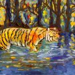 Корнилова Валерия, 14 лет Тигр в воде РФ, Ивановская область, г. Кинешма