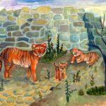 Шамрай Анна, 15 лет Амурские тигры в зоопарке РФ, Удмуртская Республика, г. Ижевск
