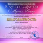 Благодарность Корлыханова Ирина Викторовна